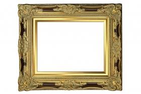 Schloss Colditz Barock-Bilderrahmen Gold Antik Pracht Prunk Rahmen