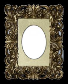 Cinderella Ovaler Barock  Foto Rahmen Gold Portrait