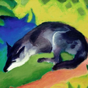 Blauschwarzer Fuchs