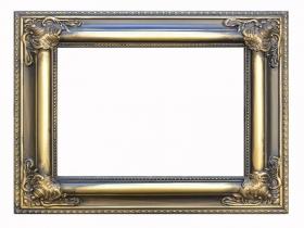 Barock-Bilderrahmen Rubens  aus Holz,Gold Antikisier MIT Glas,Rückwand und Aufhängung!