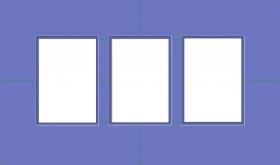 Drei Ausschnitte, doppeltes Passepartout,in fast beliebigen Größen erhältlich