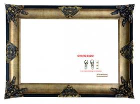 Barock Bilderrahmen Spiegelrahmen Gold und Schwarz San Giovanni