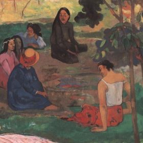 Les parau parau . Original gemalt in 1891