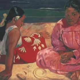 Frauen am Strand? Original gemalt in 1891