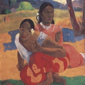 Zwei Mädchen. Original gemalt in 1894