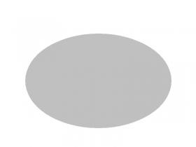 OVAL Rückwand, Weiß,3mm stark