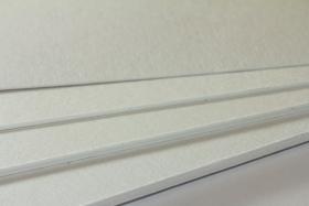 Rückwand für Bilderrahmen 3 mm, Weiß, Säurefrei kaschiert, Kern gepuffert
