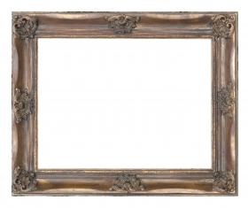 Barock-Bilderrahmen Canaletto, Massivholzrahmen in Antikoptik
