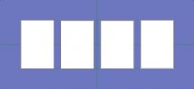 Vier Ausschnitte,einfaches Passepartout, in verschiedene Größen erhältlich