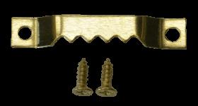 Zackenaufhänger Sägezahnaufhänger Bildaufhänger, mit Schrauben komplett