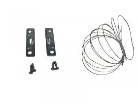2 Bildaufhänger 5cm, Seilaufhängung Bilderrahmen,4 Schrauben, 2 Meter Stahlseil